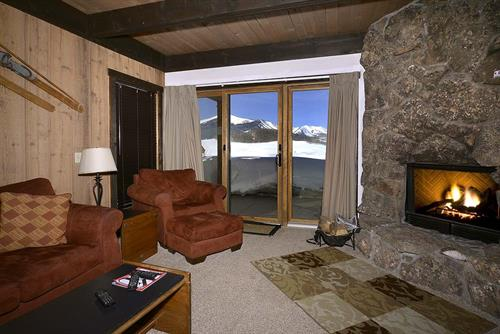 Enjoy stunning Rocky Mountain views from your Living Room and Deck Area.