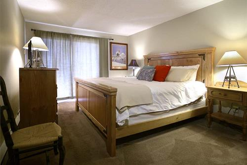 Our condos offer a variety of bed arrangments to sleep the whole family.