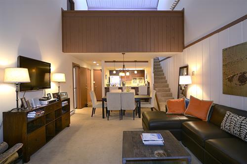 4-bedroom condos feature loft space, including a bedroom and bathroom.