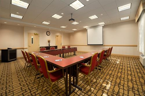 Meeting space available in one of two meeting rooms