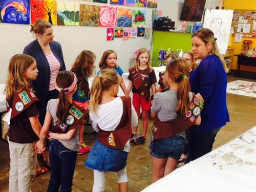 Girl Scout Brownie Art Badge Activity