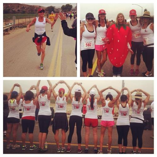 The Berry Stop team participating in a local charity run!