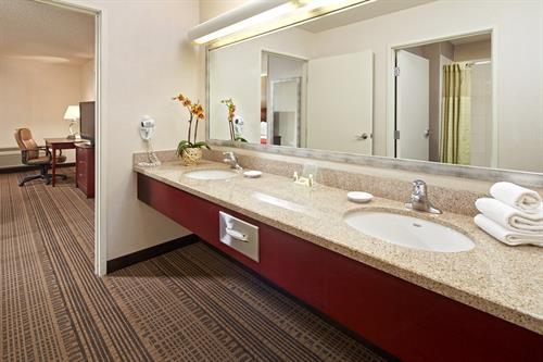 Upgraded Vanity bathroom in our One Bedroom Suite