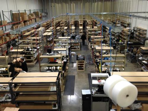 A photo of our Renton production facility, where our awards are assembled, engraved, and shipped across the US.