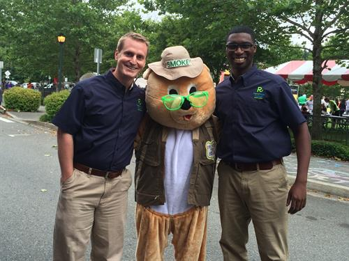 With Smokey the Bear at Highlands Day