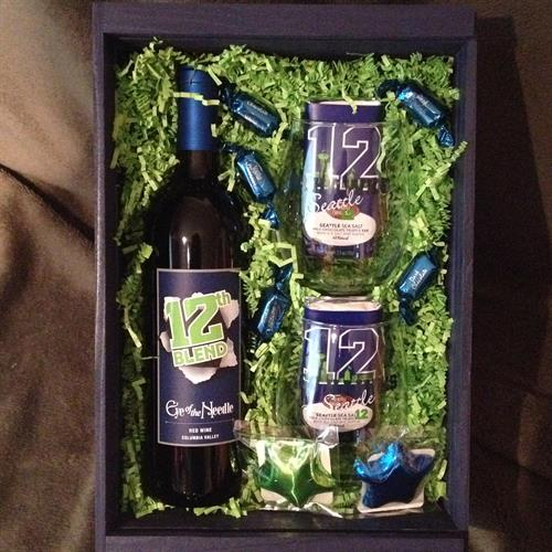 Seahawks Wine Crate