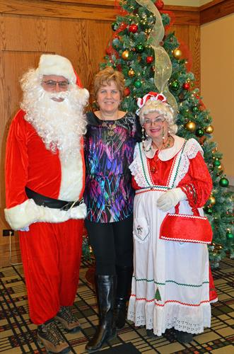 Jeanne Silver has been good, therefore Santa and Mrs. Claus were listening to her Xmas list (2013).