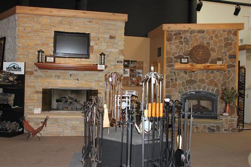 Sample of fireplace displays