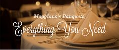 Now Introducing: Banquet Dining!