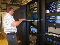 Shane tweaking the network at local county government