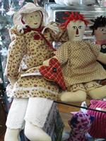 Handmade dolls by Carolyn Dubose...