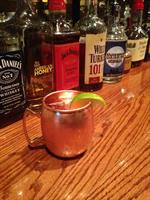 Moscow Mule served in a copper mug