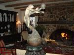 Lodge great room with sstone fireplace - perfect for reunions and meetings