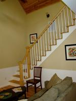 Dahlonega Square Villas -- stairs to loft of Mountain View Villa
