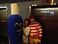 Mrs. Suds and Ronald McDonald