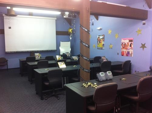 Training room ready for brand initiative launch