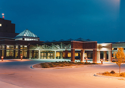 Front Entrance of Mercy - North Iowa's East Campus