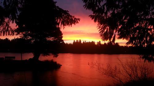 Sunrise over Lake Limerick