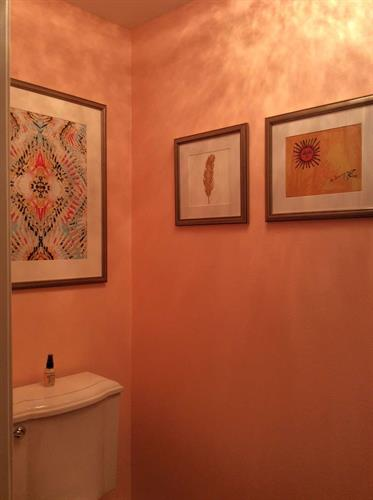 Art Consulting: the powder room also lends itself to display some lovely pieces.