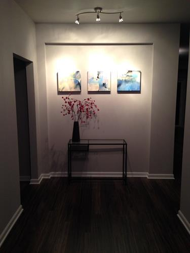 Entry with art wall