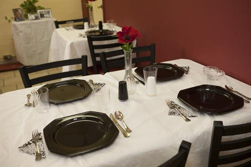 "Sample Table Setting for ""Dine At the Roper's By Appointment"""