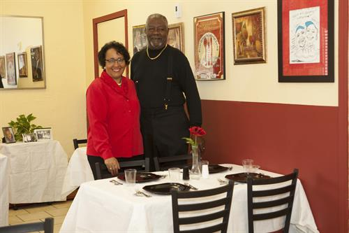 "Owners Gardenia & Jesse Roper in Dining Room for ""Dine At the Roper's By Appointment"""