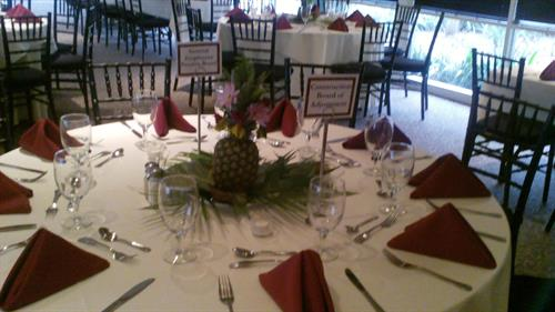 Corporate Luncheon in the banquet room.