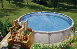 Aboveground swimming pools are available to fit every style and budget.