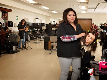 Cosmetology & Barbering, like all of our Career Tech programs, has a nearly 100% job placement rate after graduation.