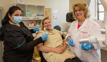 Dental Assisting students do their clinical rotations at a variety of public and private dental clinics in the area