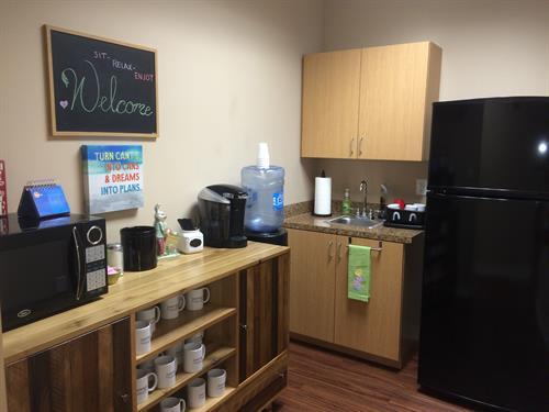 Refreshment Area / Welcome Kitchen