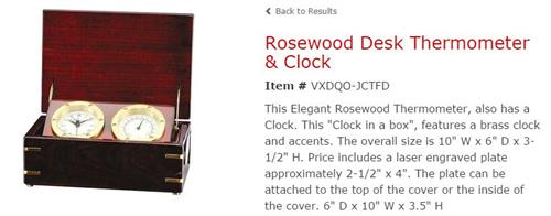 Custom designed Rosewood Executive Gifts are exquisite