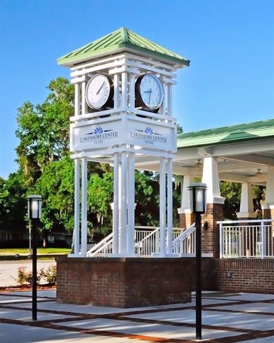 Clock tower tolls at Ocoee Lakeshore Center