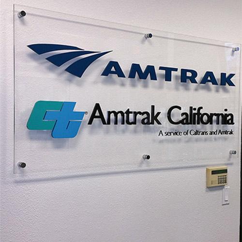 Acrylic Lobby Sign - Amtrak
