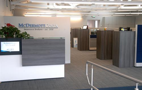 When you come to McDermottCosta, don't worry about what to do once you enter our office as we have a dedicated reception area to direct you to where you need to go next.