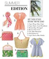 Summer Exclusives:Vacations, Tunics,Totes and botanical
