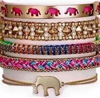 Bracelet Stacks: Everyone loves an Arm Party (Strength, Arrison, Visionary, Wanderlust & Wishing Elephant)