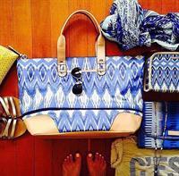 Belle Mare Chic: Getaway in Indigo Ikat