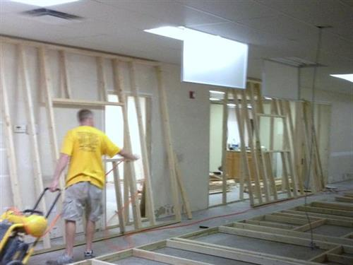 Commerical Remodel - beginning framing for new offices