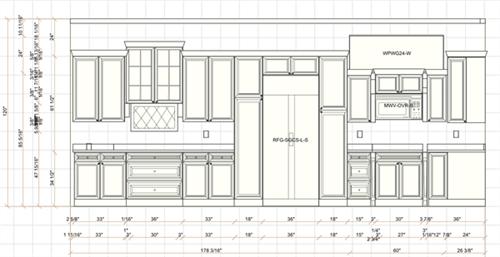 Elevation Plan - Kitchen