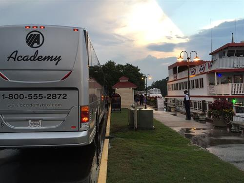 Easy boarding access for our motorcoach groups, and free parking!