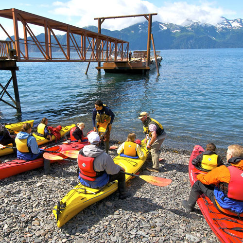 All sea-kayaking is guided by Sunny Cove Sea Kayaking