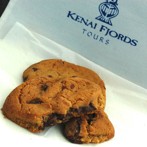 Warm, fresh-baked cookies offered on each tour
