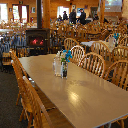 The Day Lodge for Kenai Fjords Tours guests on tours that include the stop at Fox Island