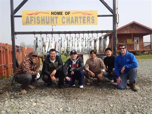 Kasilof river red salmon fishing