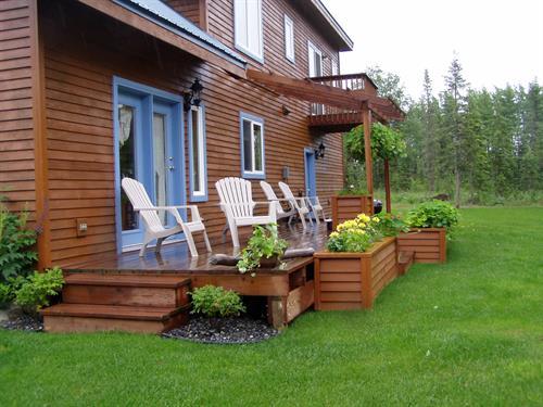 Each cabin has a deck