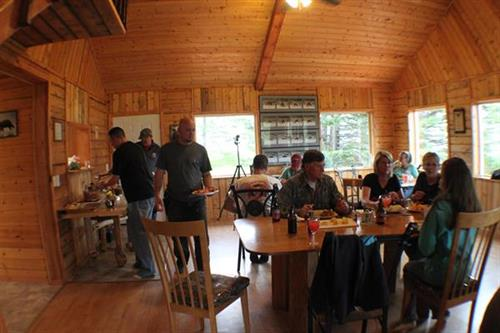 Dinner time in the main lodge.