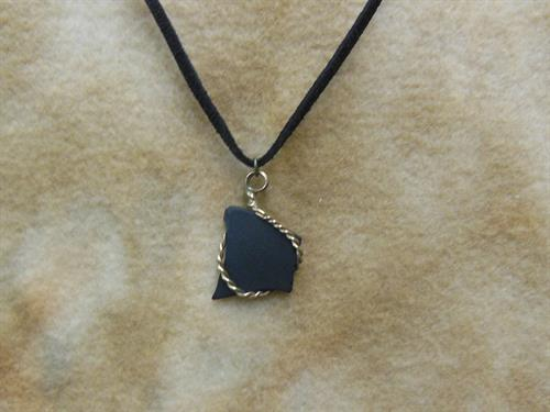 "Black Sea Glass/14K Black 20"" $28"