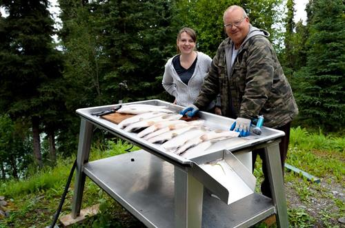 Private fish cleaning table