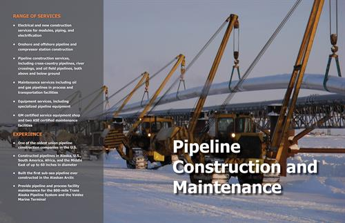 Pipeline Construction and Maintenance Services